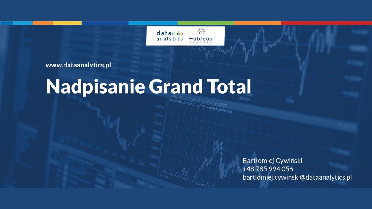 Nadpisanie Grand Total