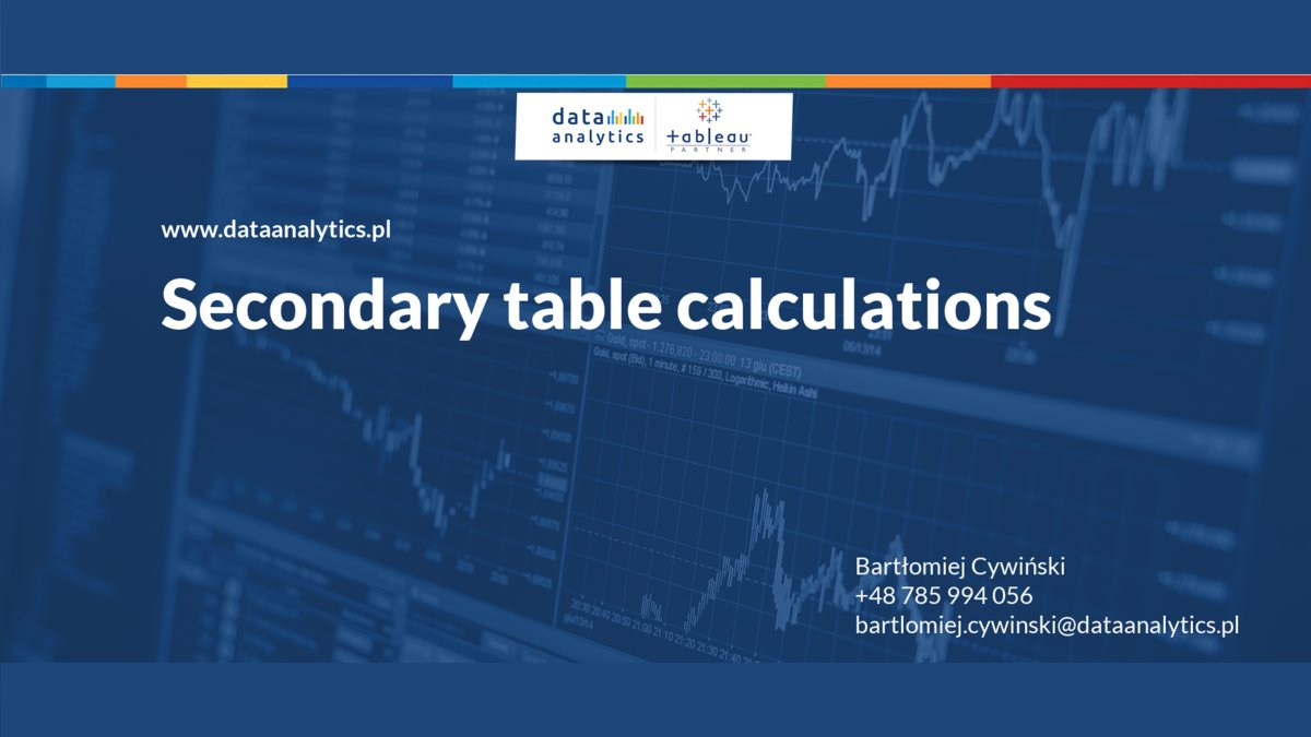 Secondary table calculations